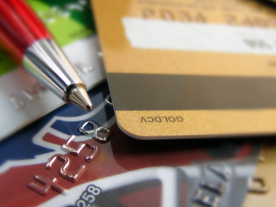 Pen on top of Credit Cards