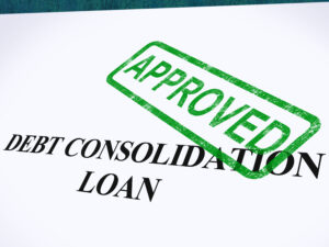 debt consolidation loan approved stamp
